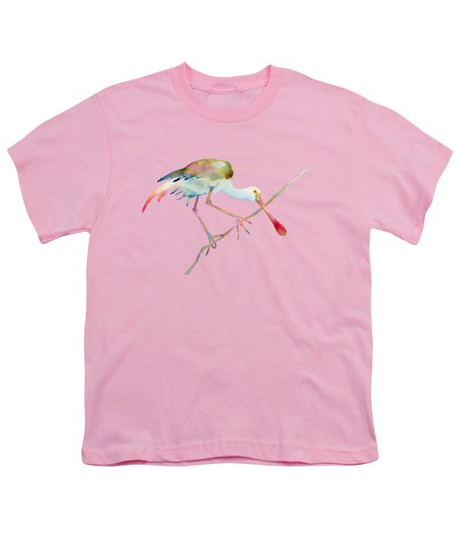 Spoonbill  Youth T-Shirt by Amy Kirkpatrick
