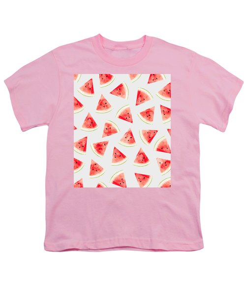 Watercolor Watermelon Pattern Youth T-Shirt