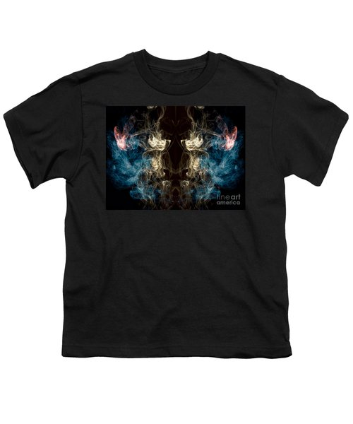 Minotaur Smoke Abstract Youth T-Shirt by Edward Fielding