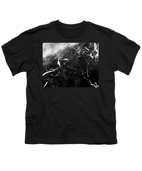 Youth T-Shirt featuring the photograph  Spidernet by Yulia Kazansky