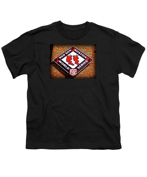 Boston Red Sox 1912 World Champions Youth T-Shirt by Stephen Stookey