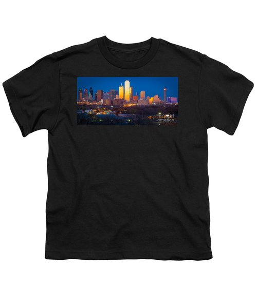 Dallas Skyline Youth T-Shirt by Inge Johnsson