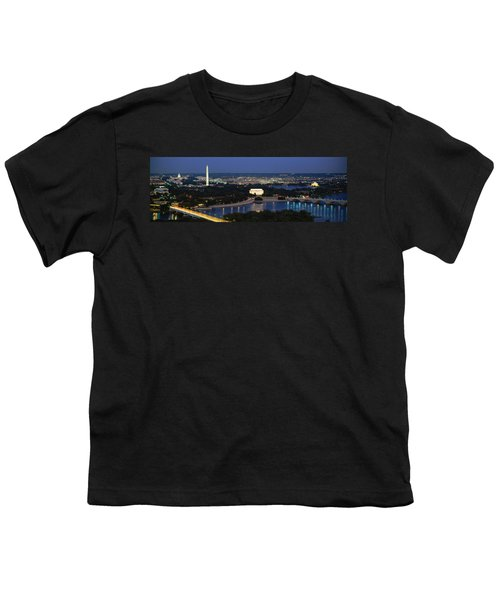 High Angle View Of A City, Washington Youth T-Shirt