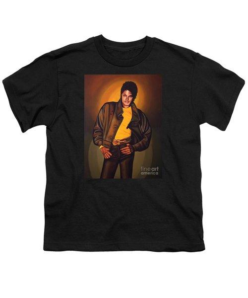 Michael Jackson Youth T-Shirt by Paul Meijering
