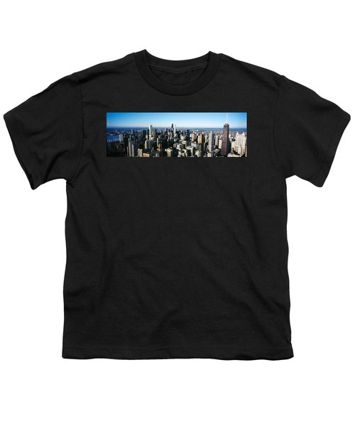Skyscrapers In A City, Hancock Youth T-Shirt by Panoramic Images
