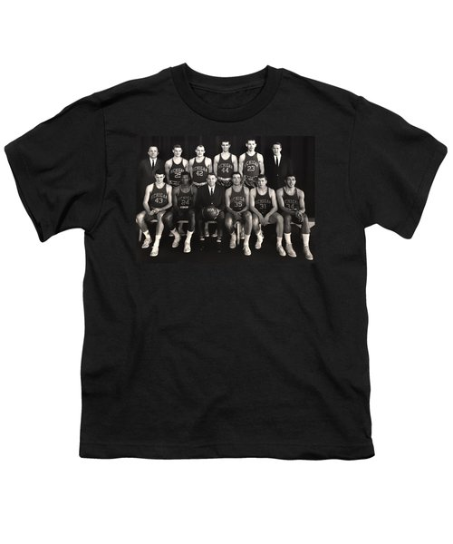 1959 University Of Michigan Basketball Team Photo Youth T-Shirt by Mountain Dreams
