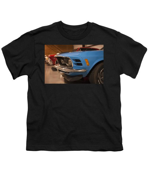1970 Mustang Mach 1 And Other Classics Hidden In A Garage Youth T-Shirt