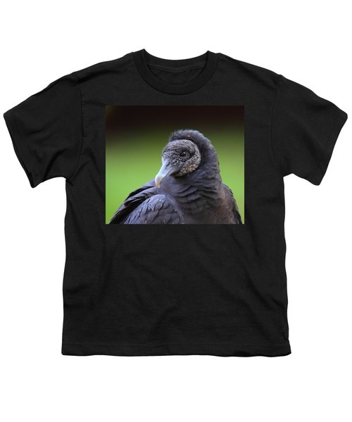 Black Vulture Portrait Youth T-Shirt