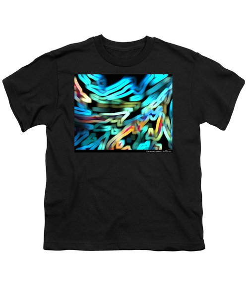 Youth T-Shirt featuring the digital art The Scarf by Mihaela Stancu
