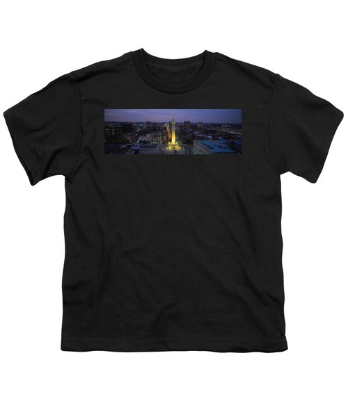 High Angle View Of A Monument Youth T-Shirt