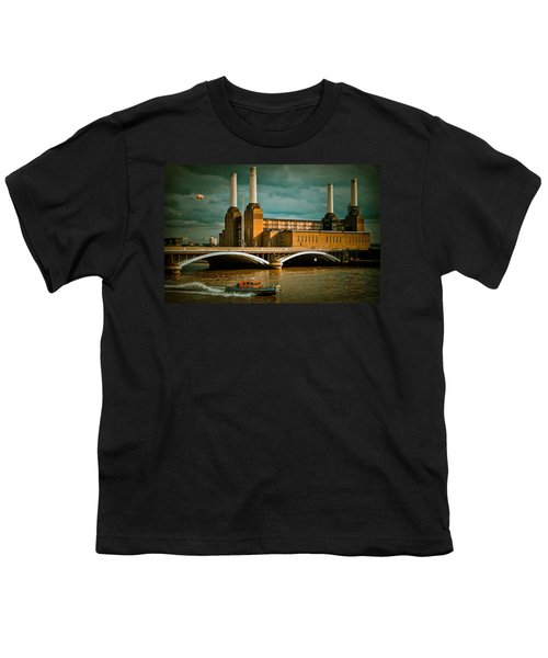 Pink Floyd Pig At Battersea Youth T-Shirt by Dawn OConnor