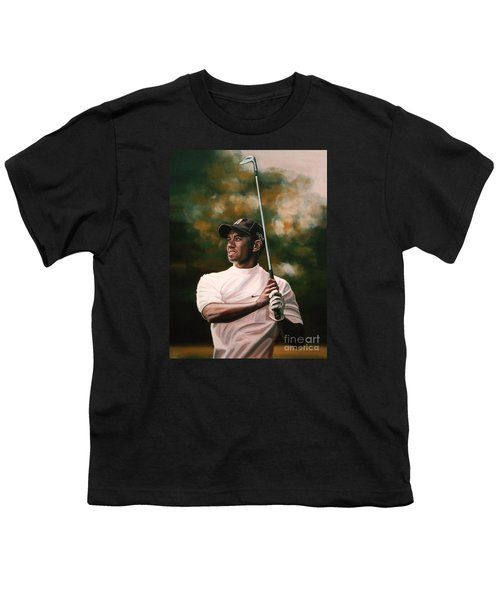 Tiger Woods  Youth T-Shirt by Paul Meijering