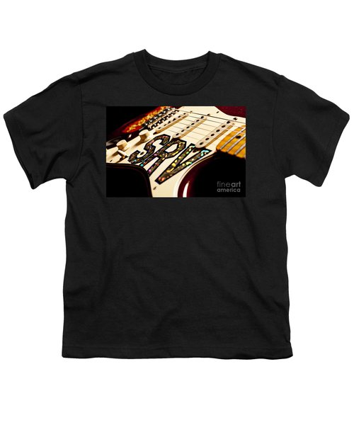 Replica Stevie Ray Vaughn Electric Guitar Artistic Youth T-Shirt by Jani Bryson