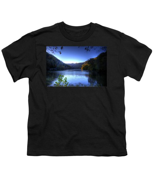 Youth T-Shirt featuring the photograph A Blue Lake In The Woods by Jonny D