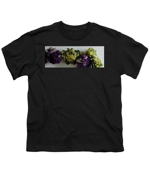 A Group Of Cauliflower Heads Youth T-Shirt by Romulo Yanes