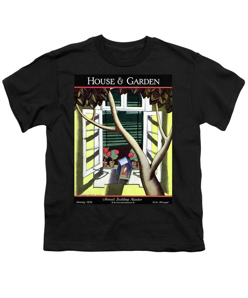 A House And Garden Cover Of A Birdcage Youth T-Shirt