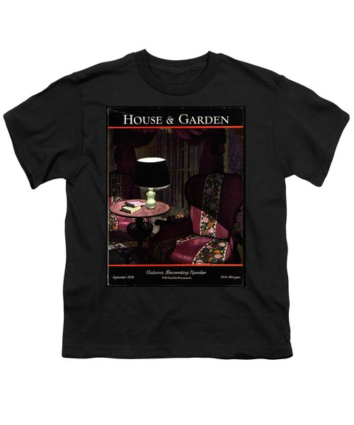 A House And Garden Cover Of A Lamp By An Armchair Youth T-Shirt
