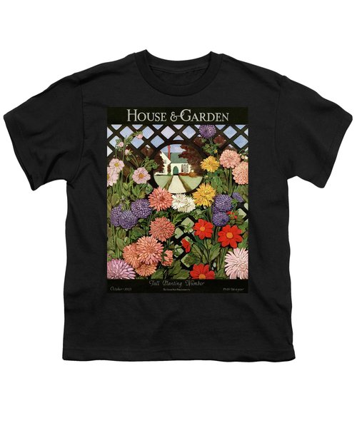 A House And Garden Cover Of Flowers Youth T-Shirt