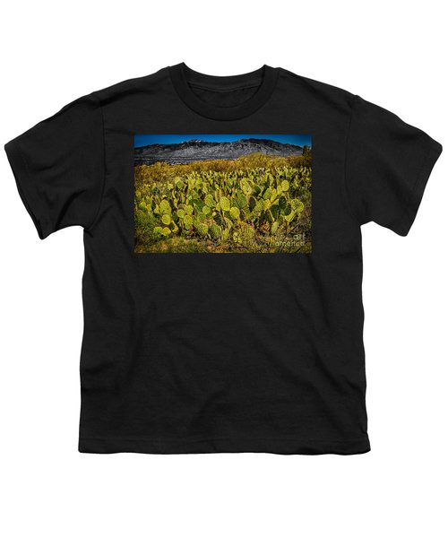 Youth T-Shirt featuring the photograph A Prickly Pear View by Mark Myhaver