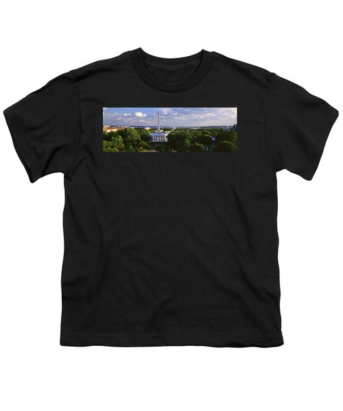 Aerial, White House, Washington Dc Youth T-Shirt by Panoramic Images
