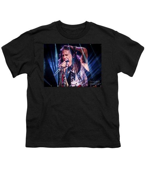 Aerosmith Steven Tyler Singing In Concert Youth T-Shirt