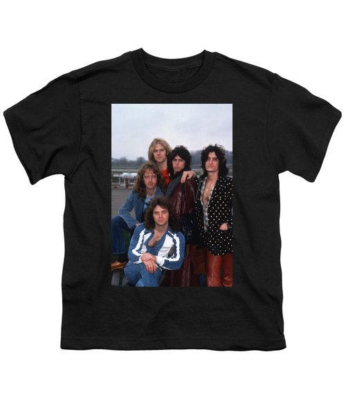Aerosmith - Terre Haute 1977 Youth T-Shirt by Epic Rights