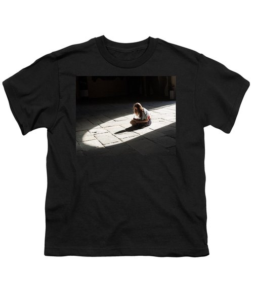 Youth T-Shirt featuring the photograph Alone In A Pool Of Light by Alex Lapidus