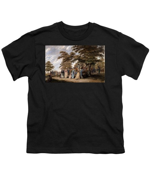 An Airing In Hyde Park, 1796 Youth T-Shirt by Edward Days