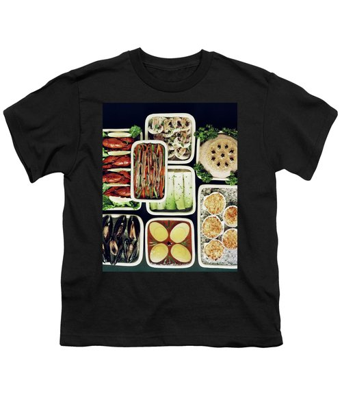 An Assortment Of Food In Containers Youth T-Shirt