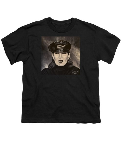 Anjelica Huston Youth T-Shirt by Paul Meijering