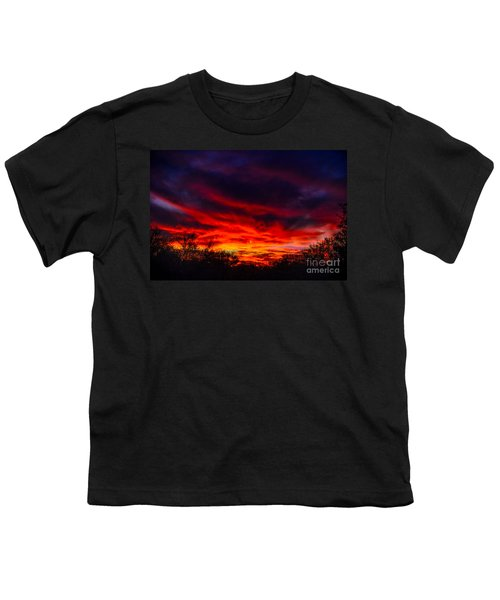 Youth T-Shirt featuring the photograph Another Tucson Sunset by Mark Myhaver