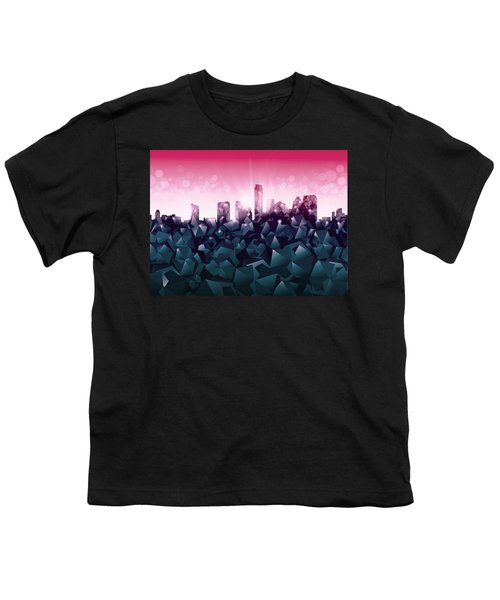 Austin Skyline Geometry 2 Youth T-Shirt by Bekim Art