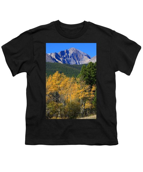 Autumn Aspens And Longs Peak Youth T-Shirt