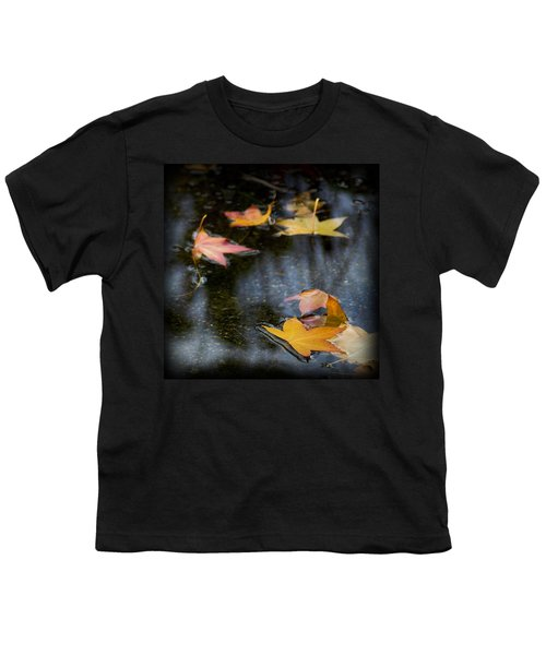 Autumn Leaves On Water Youth T-Shirt