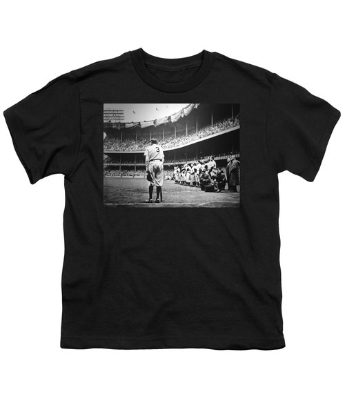 Babe Ruth Poster Youth T-Shirt by Gianfranco Weiss
