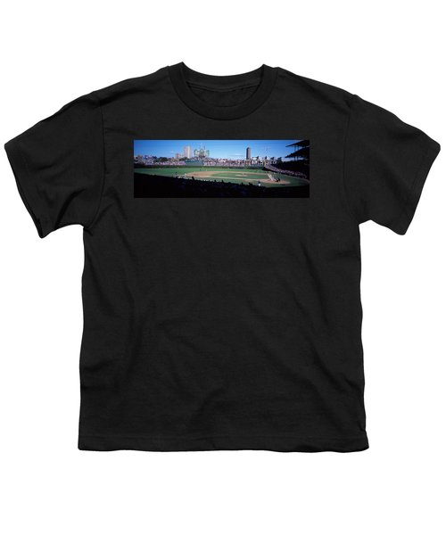 Baseball Match In Progress, Wrigley Youth T-Shirt by Panoramic Images