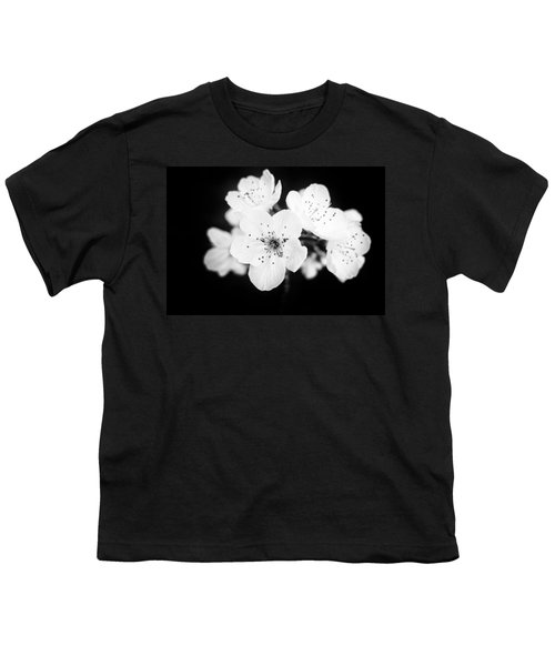 Beautiful Blossoms In Black And White Youth T-Shirt by Matthias Hauser