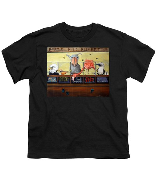 Bert's Bug Buffet Youth T-Shirt by Leah Saulnier The Painting Maniac