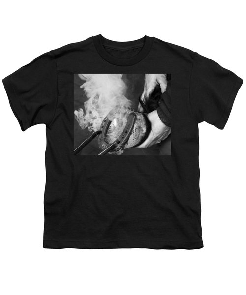 Blacksmith With Horseshoe - Traditional Craft Youth T-Shirt by Matthias Hauser