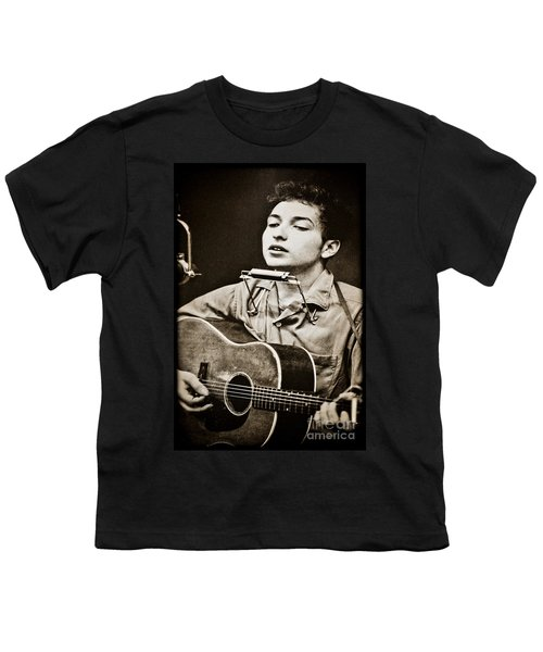 Youth T-Shirt featuring the photograph Bob Dylan by Gary Keesler