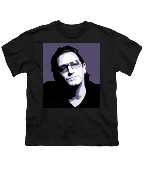 Bono Portrait Youth T-Shirt by Dan Sproul