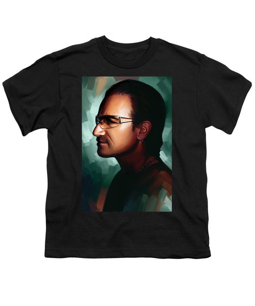 Bono U2 Artwork 1 Youth T-Shirt by Sheraz A