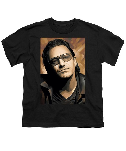 Bono U2 Artwork 2 Youth T-Shirt by Sheraz A