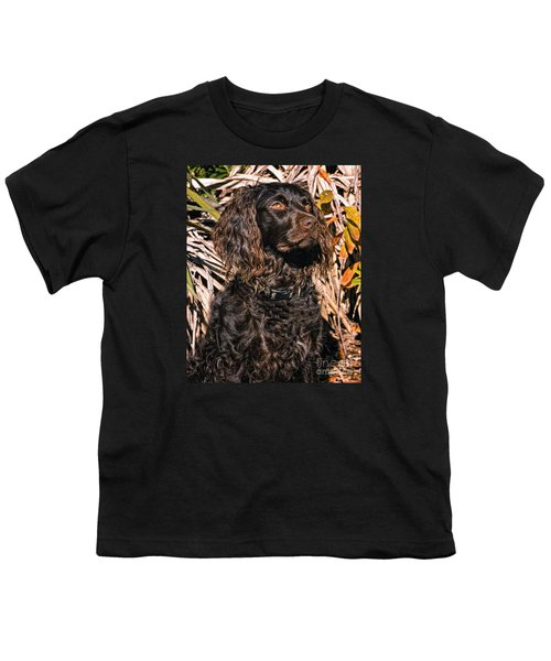 Boykin Spaniel Portrait Youth T-Shirt by Timothy Flanigan