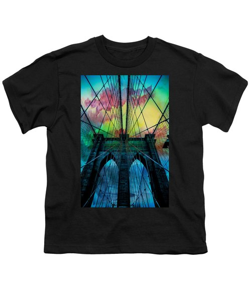 Psychedelic Skies Youth T-Shirt by Az Jackson
