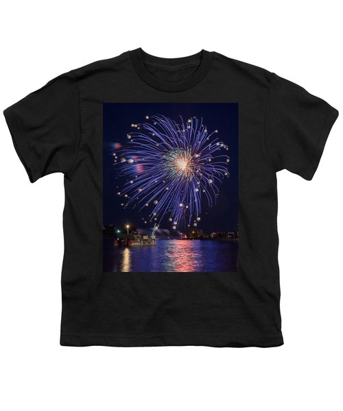 Burst Of Blue Youth T-Shirt by Bill Pevlor