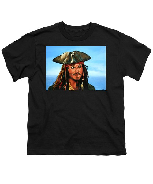 Captain Jack Sparrow Painting Youth T-Shirt