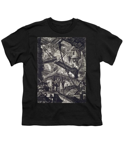 Carceri Vii Youth T-Shirt by Giovanni Battista Piranesi