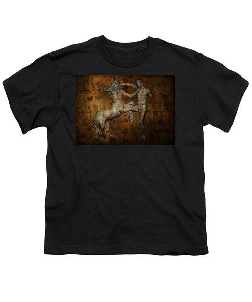 Centaur Vs Lapith Warrior Youth T-Shirt by Daniel Hagerman
