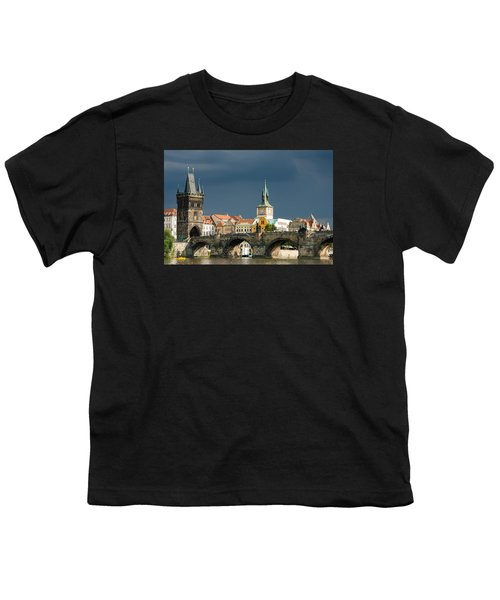 Charles Bridge Prague Youth T-Shirt by Matthias Hauser
